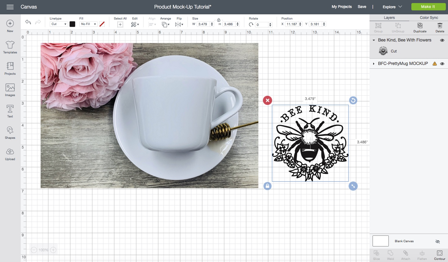 Cricut Design Space - How to use Product Mock-Up's